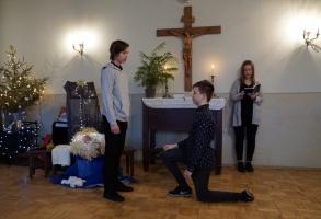 Jauniešu priekšnesums Draudzes eglītē