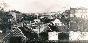 Aleksandra laukums pirms tika uzcelta Jaunā Sv. Ģertrūdes baznīca.