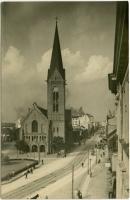 Jaunā Sv. Ģertrūdes baznīca. 1910.-1915. g. Attels no Latvijas Nacionālās biblotēkas fondiem.